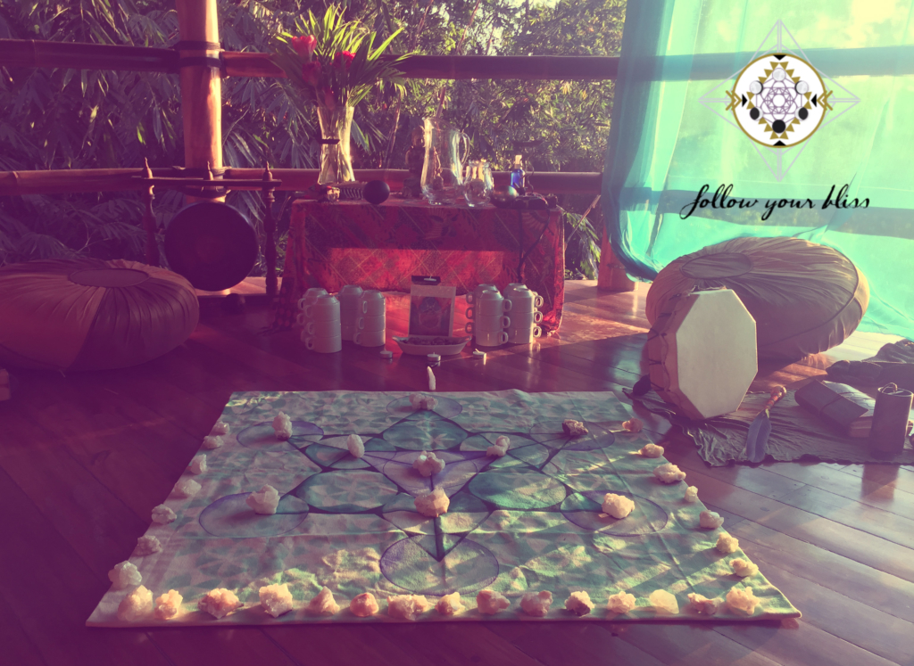 Crystal Grid for Cacao Ceremony
